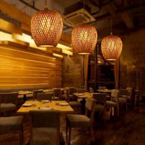 decoración bambu comedor