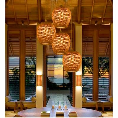 decoración con muebles de bambú