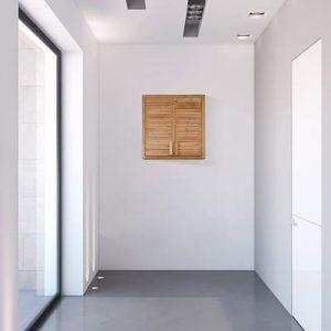 armarios de bambú pasillos