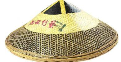 sombrero chino de bambu barato
