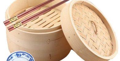 vaporera de bambú barata