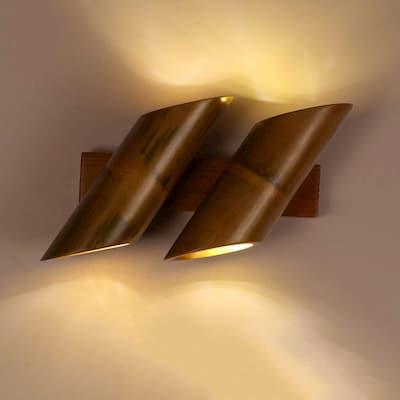 iluminación con bambu