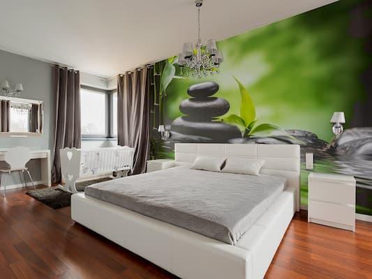 parede ambiente bambu